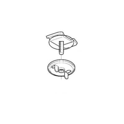 ネグロス電工 開口下向き用器具取付金具 2個入 DK1-6-02P