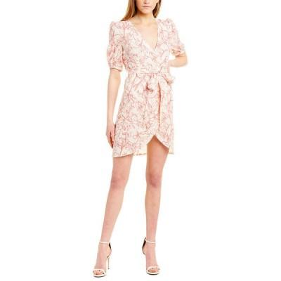 アイデン ワンピース トップス レディース Aiden Tie-Front Mini Dress pink & white