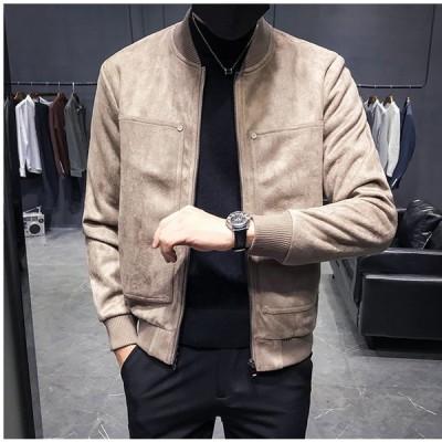 メンズジャケット ジャケット コート アウタージャケット スエード調 フェイクレザー お兄系ジャケット メンズ ファッション