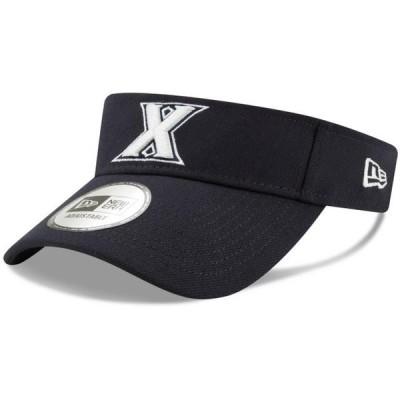 ユニセックス スポーツリーグ アメリカ大学スポーツ Xavier Musketeers New Era Flash Visor - Navy - OSFA 帽子