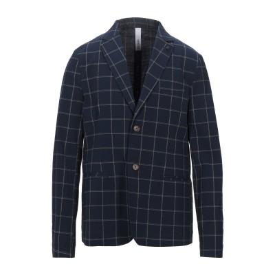 DISTRETTO 12 テーラードジャケット ダークブルー 52 コットン 98% / ポリウレタン 2% テーラードジャケット
