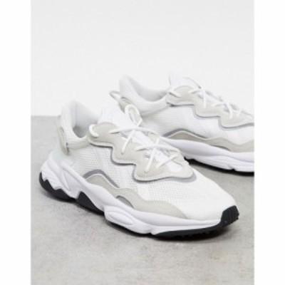 アディダス adidas Originals メンズ スニーカー シューズ・靴 Ozweego trainers in white ホワイト