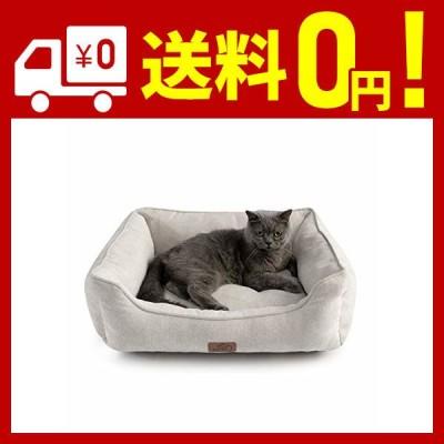 Bedsure 猫 ベッド ベージュ ペットベッド 犬 ペットソファー 丸洗い ペットクッション 猫用 犬用 マット 夏 通年 小型 中型 犬 猫 洗