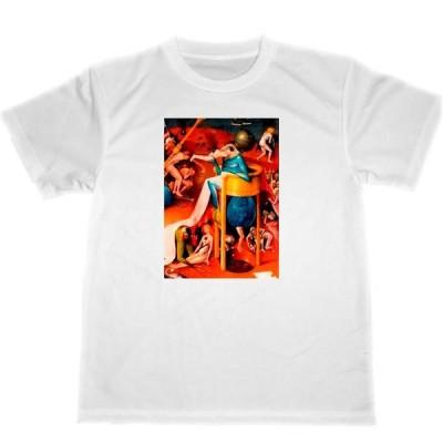 ヒエロニムス・ボス ドライ Tシャツ 快楽の園 部分 名画 絵画 グッズ 2