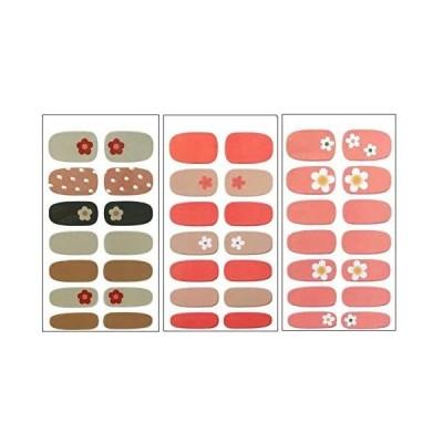 ネイルシール oumino ネイルラップ 手 3枚セット 貼るだけマニキュア ネイルアートネイルステッカー ネイルアクセサリー