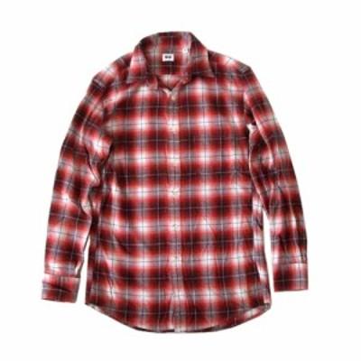 UNIQLO ユニクロ タータンチェックネルシャツ (赤) 100821【中古】