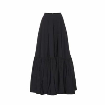 プラン C Plan C レディース ロング・マキシ丈スカート スカート Cotton-blend maxi skirt Black