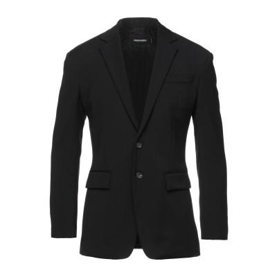 ディースクエアード DSQUARED2 テーラードジャケット ブラック 46 バージンウール 65% / レーヨン 32% / ポリウレタン 3%
