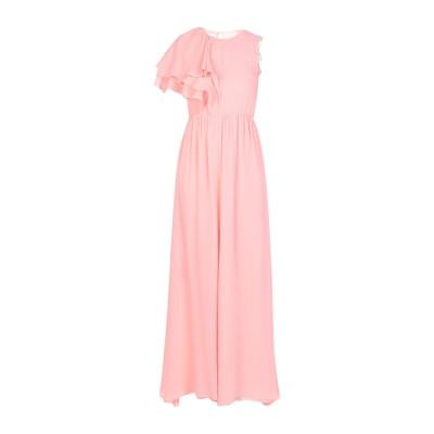 PINKO UNIQUENESS ロングワンピース&ドレス ピンク 38 コットン 78% / シルク 22% / ポリエステル ロングワンピース&