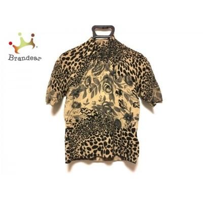 スーパービューティー SUPERBEAUTY 半袖セーター レディース 美品 ブラウン×黒   スペシャル特価 20210106