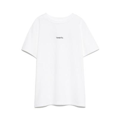 ミラオーウェン Mila Owen 手書き風ロゴTシャツ (WHT)