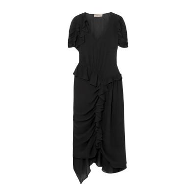 PREEN LINE 7分丈ワンピース・ドレス ブラック XS レーヨン 55% / レーヨン 45% 7分丈ワンピース・ドレス