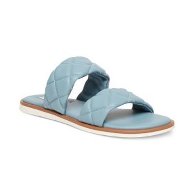 スティーブ マデン レディース サンダル シューズ Women's Orsa Quilted Slide Sandals Blue