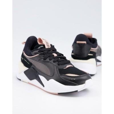 プーマ レディース スニーカー シューズ Puma RS-X3 sneakers in black and pink Bk1 - black 1