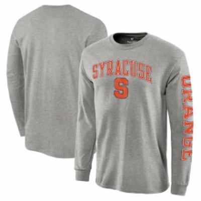 Fanatics Branded ファナティクス ブランド スポーツ用品  Syracuse Orange Heather Gray Distressed Arch Over Logo Long Sleeve Hit T-