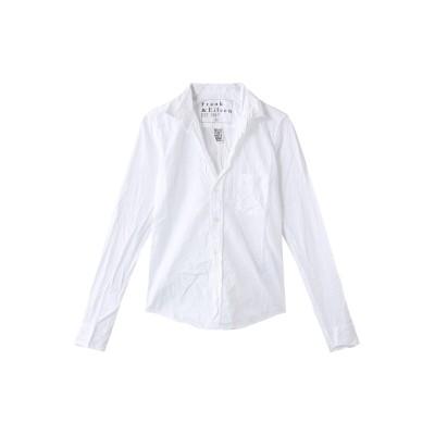 Frank&Eileen フランク&アイリーン BARRY コットンポプリンホワイトシャツ レディース ホワイト XS