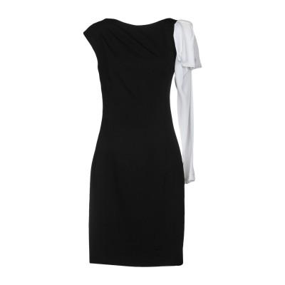 22 MAGGIO by MARIA GRAZIA SEVERI ミニワンピース&ドレス ブラック 42 レーヨン 69% / ナイロン 25% /