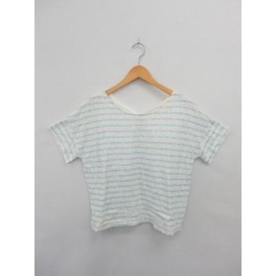 【中古】グリーンレーベルリラクシング ユナイテッドアローズ green label relaxing Tシャツ カットソー 半袖 ボーダー