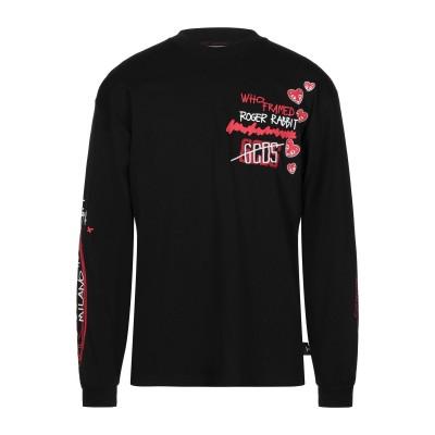 GCDS T シャツ ブラック XS コットン 100% T シャツ