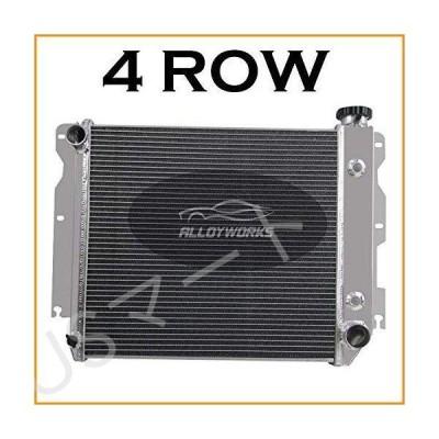 ALLOYWORKS 4 Row All Aluminum Radiator for 1987-2006 Jeep ラングラー TJ YJ/Chevy GMC V8 USA