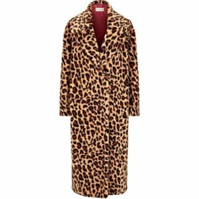 ジュームズ レイクランド James Lakeland レディース コート ファーコート アウター Leopard Faux Fur Coat Leopard