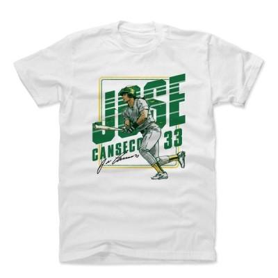 MLB Tシャツ アスレチックス ホセ・カンセコ Player Art Cotton T-Shirt 500Level ホワイト 1112LV【OCSL】