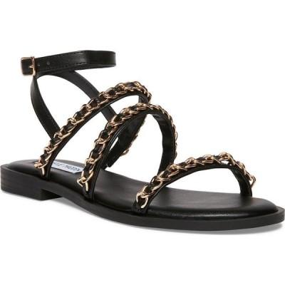 スティーブ マデン Steve Madden レディース サンダル・ミュール シューズ・靴 Tesla Chain-Trim Sandals Black Multi