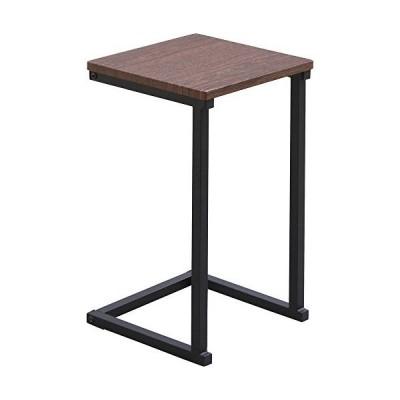 アイリスオーヤマ テーブル サイドテーブル コの字型デザイン 木目調 ブラウンオーク/ブラック 幅約29×奥行約29×高さ約52.2cm SDT-29