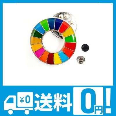 SDGs バッジ 【20mm 小さめ ミニ 社章サイズ】(1個) SDGsバッチ ピンバッジ ピンバッチ 国連 UN バッヂ 国連本部最新仕様 sdg