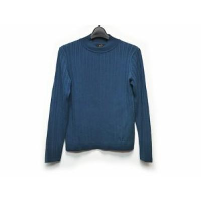 ダックス DAKS 長袖セーター サイズ40 L レディース - ブルー ハイネック【還元祭対象】【中古】20200410