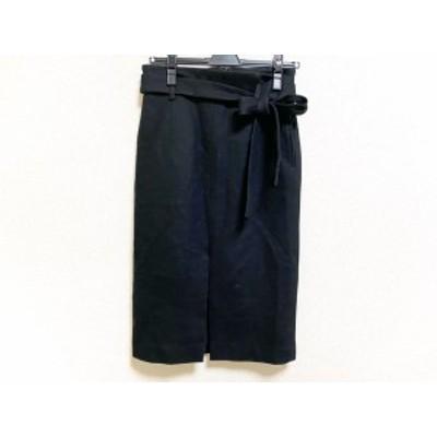 ウィムガゼット whim gazette スカート サイズ36 S レディース 美品 - 黒 ひざ丈【中古】20200428