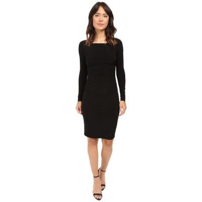 カマリカルチャー ワンピース トップス レディース L/S Shirred Waist Dress Black