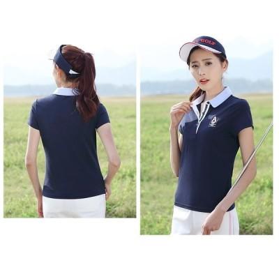 新作スポーツウェアレディースポロシャツゴルフウェア半袖ポロカジュアルporoポロシャツ可愛いldhp1020
