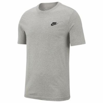 ナイキ メンズ Tシャツ Nike Embroidered Futura T-Shirt 半袖 Dark Grey Heather/Black