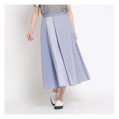 【デッサン/Dessin】 【CLASSY.6月号掲載/S~L】ストライプ切り替えスカート