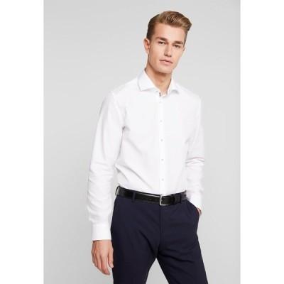 サイデンステッカー シャツ メンズ トップス SLIM FIT SPREAD KENT PATCH - Formal shirt - white