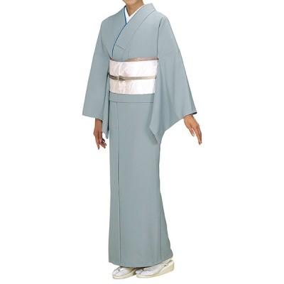 踊り衣裳【反物 秀印 色無地着尺】ライトグレー 取り寄せ商品 「日本の踊り」掲載 踊り絵羽 女性用 レディース 洗える着物