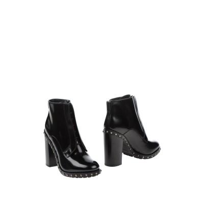 ドルチェ & ガッバーナ DOLCE & GABBANA ショートブーツ ブラック 35 牛革(カーフ) 100% ショートブーツ
