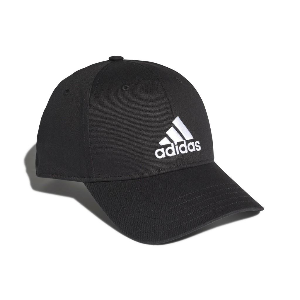 ADIDAS   BBALL CAP COT 棒球帽-運動 訓練-可調節 -黑色-FK0891