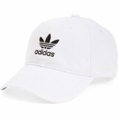 アディダス ADIDAS ORIGINALS メンズ キャップ 帽子 Relaxed Baseball Cap White/Black
