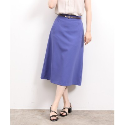 ViS / 【EASY CARE】合皮ベルト付ミディ丈ナロースカート WOMEN スカート > スカート