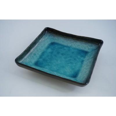 流泉 正角深皿 美濃焼 日本製 盛皿 盛付皿 和食器