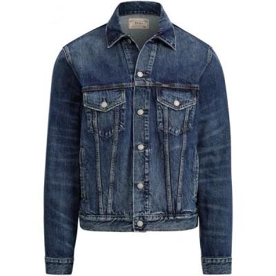 ラルフ ローレン POLO RALPH LAUREN メンズ ジャケット Gジャン アウター Faded Denim Trucker Jacket Denim Jacket Blue