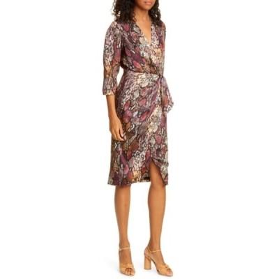 レベッカテイラー レディース ワンピース トップス Snakeskin Print Wrap Dress MULTI COMB