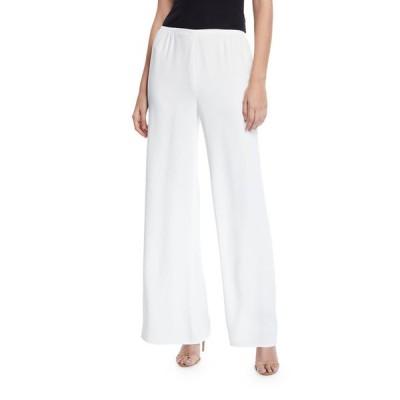 キャロライン ローズ レディース カジュアルパンツ ボトムス Petite Crepe Suzette Wide-Leg Pull-On Pants