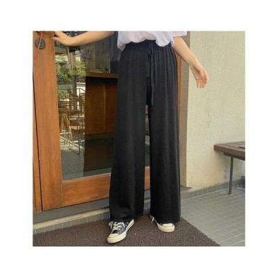 From Beginning レディース パンツ Cashmere knitted wide pants