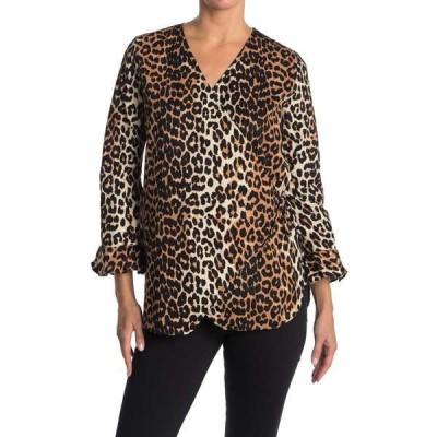 ガニー レディース シャツ トップス Fabre Cotton Leopard Blouse LEOPARD