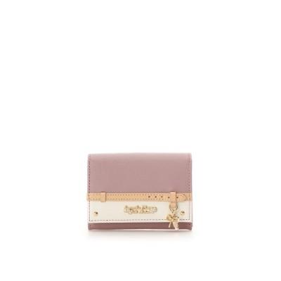 サマンサタバサプチチョイス ベルトリボンモチーフ マルチパスケース ピンク