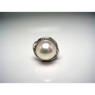 真珠 ネクタイピン パール アコヤ真珠 9.24mm シルバー 51790