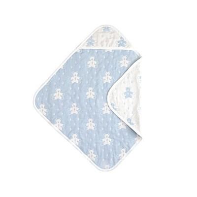 SOULEIADOモン・ヌヌース ふくふくガーゼ(6重ガーゼ) アフガン ブルー